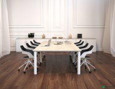 Esstisch mit Stühlen. Fotorealistisches Rendering.