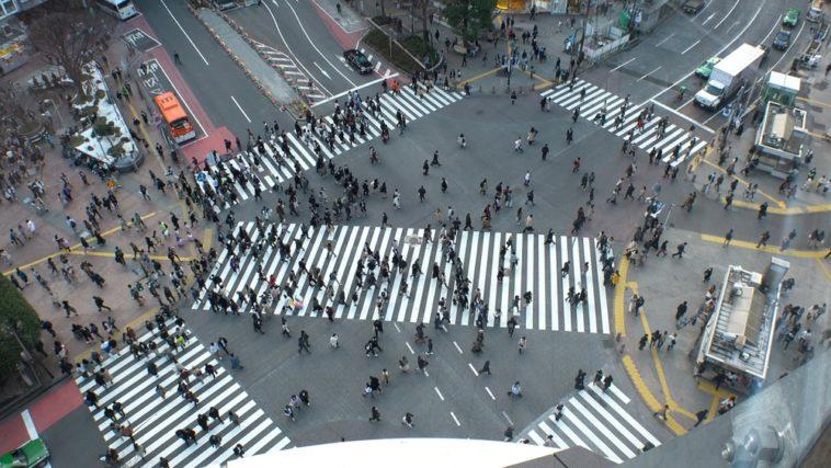 Stadtplanung für Fußgänger