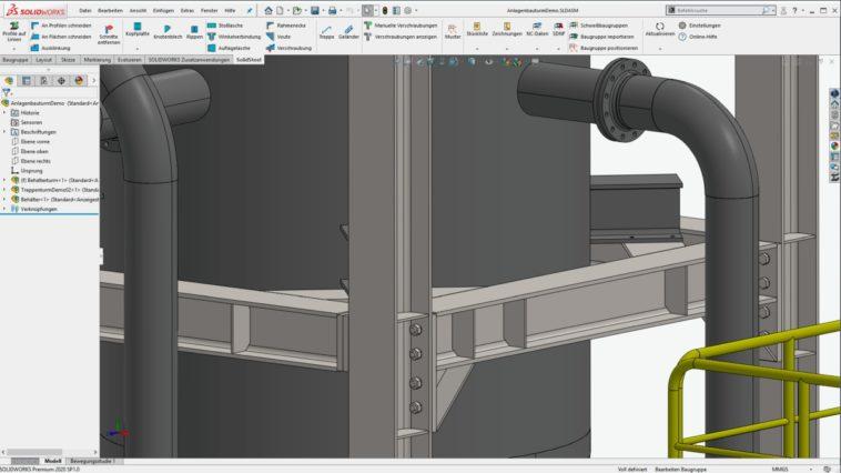 Stahlkonstruktionen: Neue Funktionen in SolidSteel