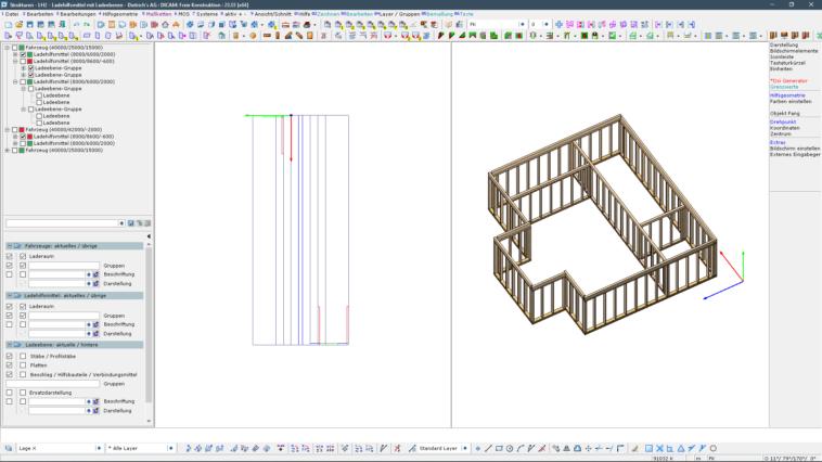 Holzbau: Software mit Verladeplanung