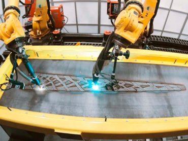 Additiv und subtraktiv: Wie LASIMM Stahl-Fachwerkträger in Form bringt