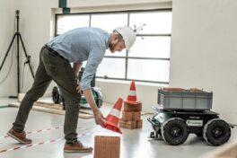 Mobile Roboter, flexibel einsetzbar auf der Baustelle