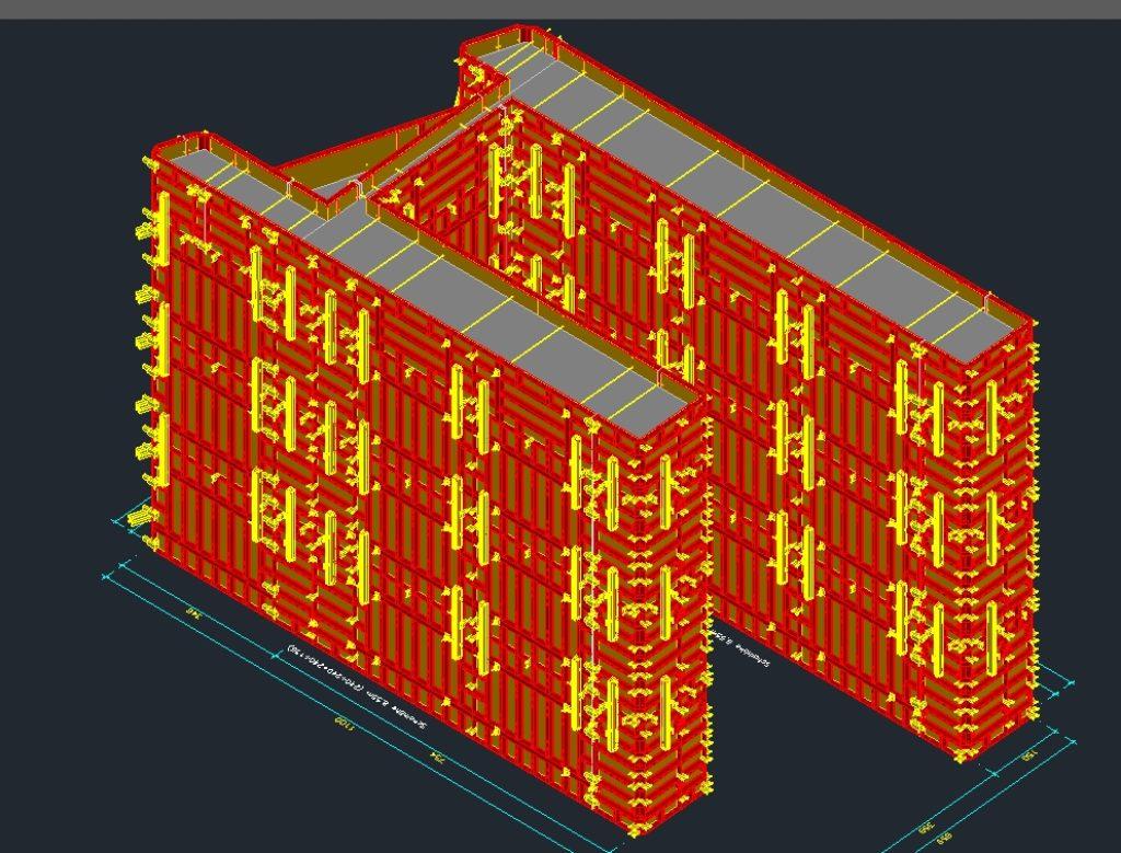 Schalungsplanung für Brückenkonstruktion