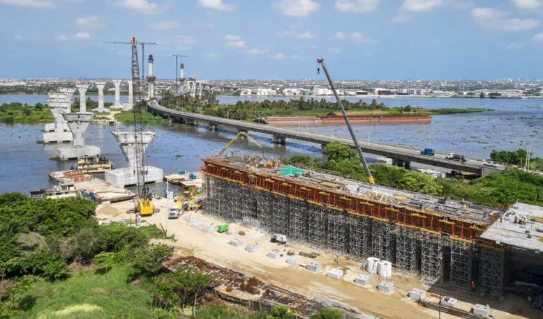 Schalung Pumarejo-Brücke