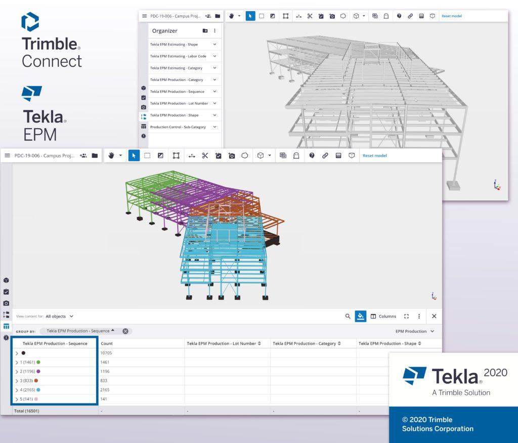 Tekla PowerFab 2020: Prozesse in der Montage verfolgen.