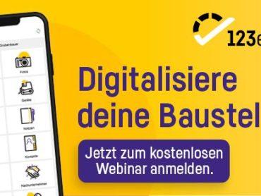 Webinar: Digitalisierung am Bau mit 123erfasst