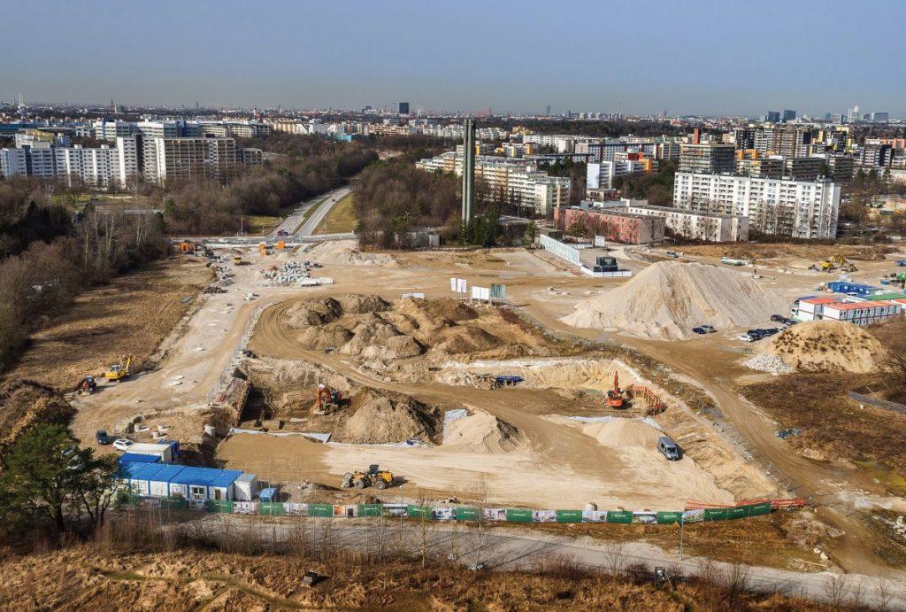 Baugrube für Pandion Verde