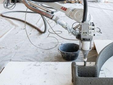 Druckroboter: Sensor für mehr Qualität im automatisierten Betondruck