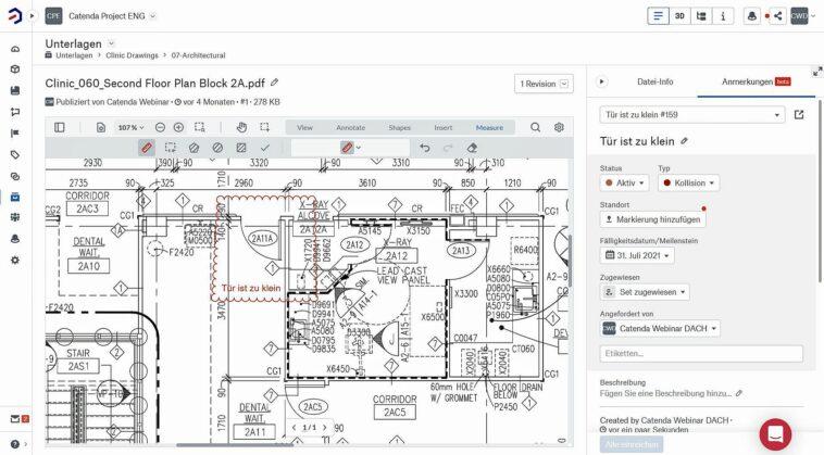 Projektkommunikation in frühen Planungsphasen: 2D-Zeichnungen im BCF-Format