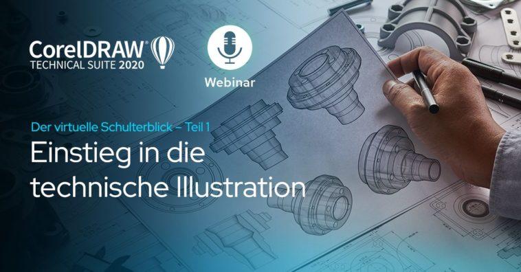 Technische Illustrationen: Gratis-Webinar von Corel