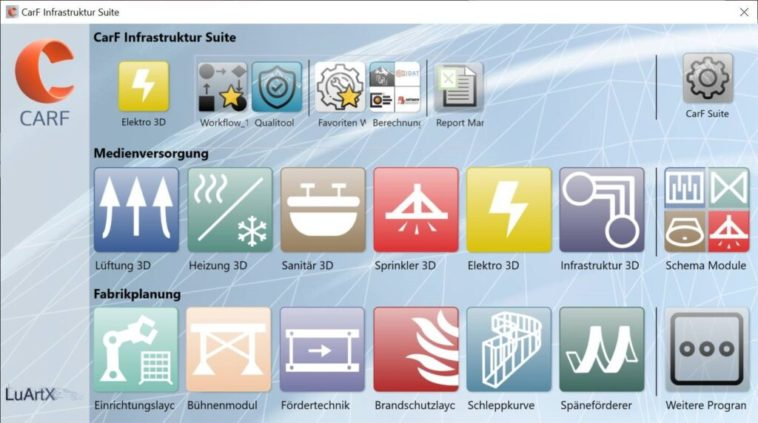 Fabrikplanung: Modularer Aufbau der Software CARF