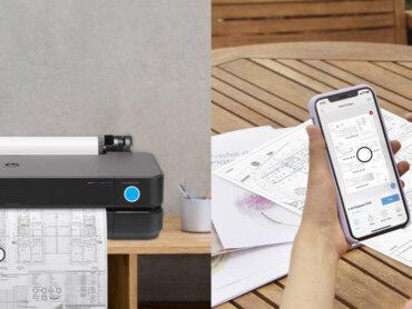 Zuwachs in der Kompaktklasse: Großformatdrucker für Bau und Design
