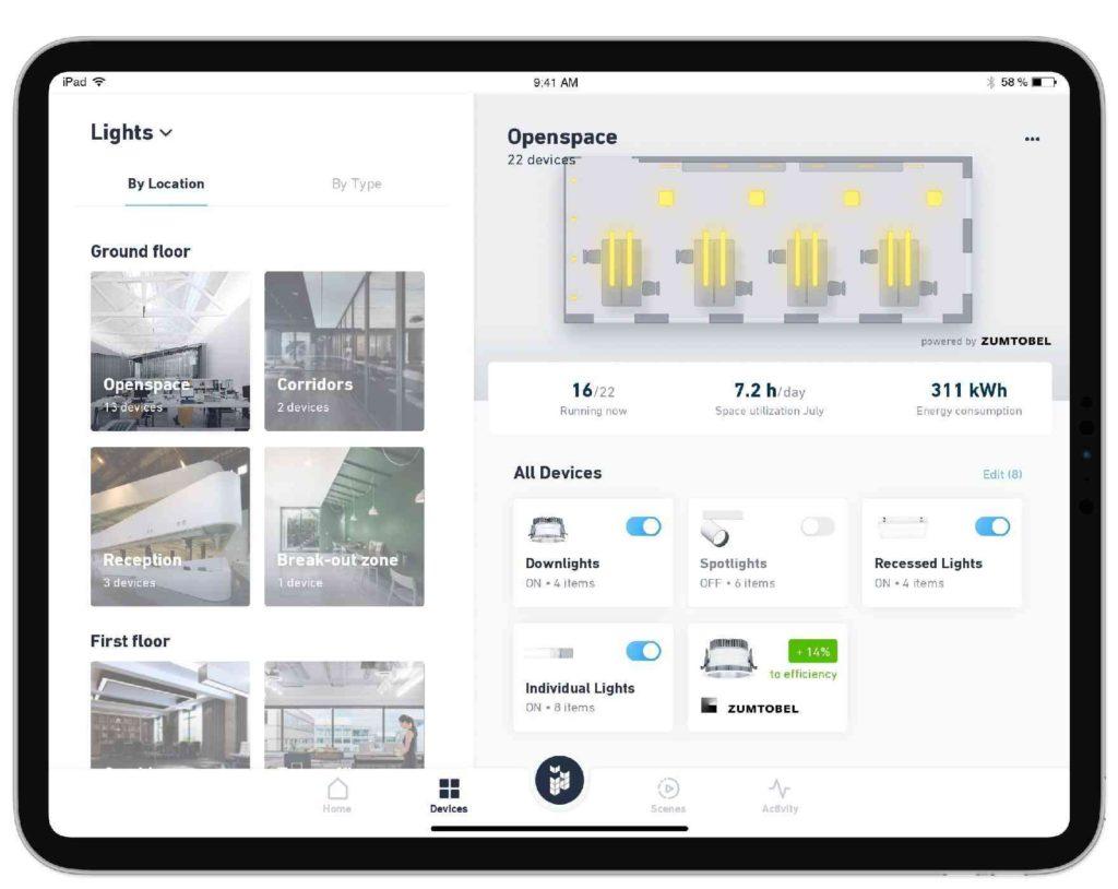 Die digitale Automation zieht ins Gebäude ein. Eine neue Zusammenarbeit von iHaus AG und Zumtobel Group vernetzt intelligente Beleuchtungslösungen mit einer IoT-Plattform.