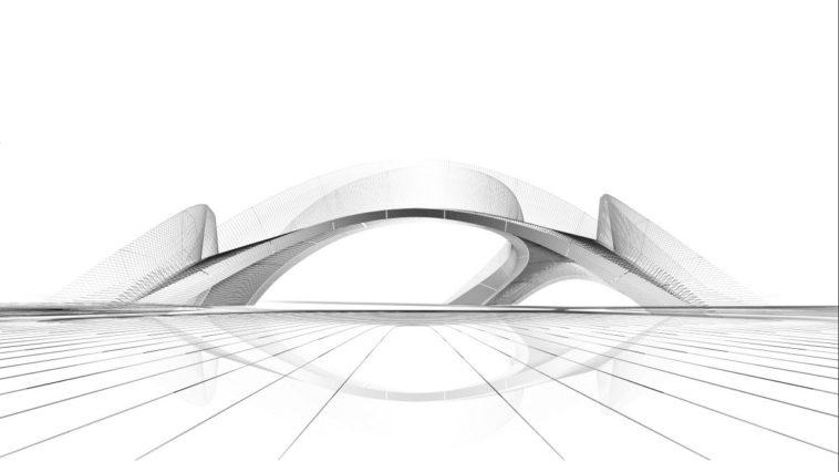 Betonbogenbrücke, erstmals im 3D-Druck entstanden