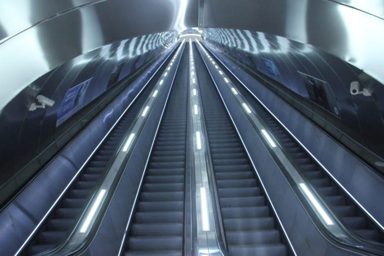 Fahrtreppen für Metro in Baku