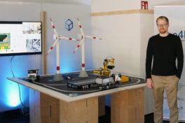 Hannover Messe 2021: autonome Baustelle, Modell der TUK